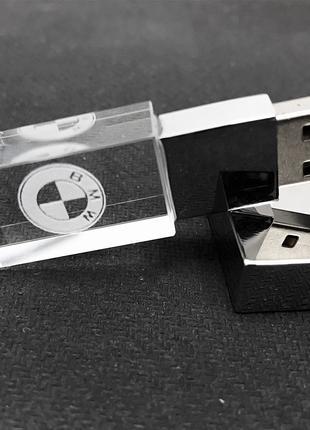 USB Флеш-Накопитель BMW Кристалл 32 GB (LED Желтый)