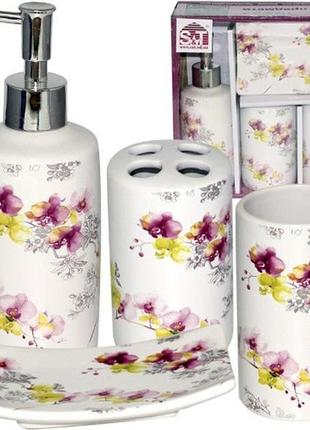 Набор для ванной керамика орхидеи