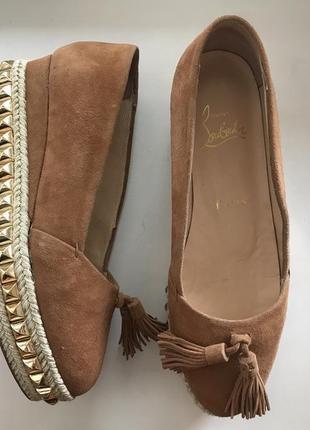 Замшевые туфли christian louboutin ❣️