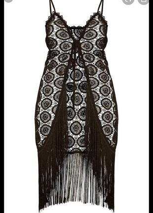 ❤️sale к 8 марта !!❤️  чёрная пляжная накидка платье парео