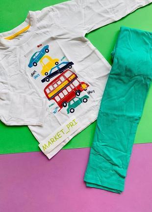 """Детская пижамка примарк """"машинка"""" для мальчика"""