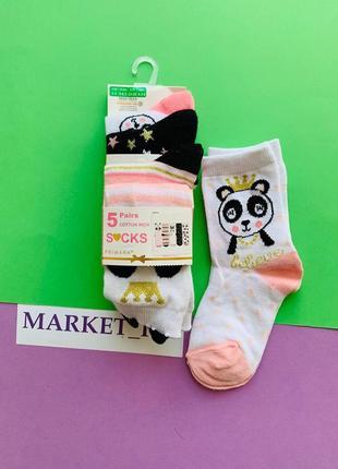 Носки примарк для девочек с пандой в наличии