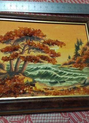 Пейзаж, картина, янтарь 1