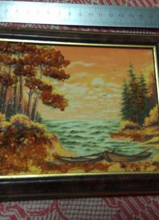 Пейзаж, картина, янтарь