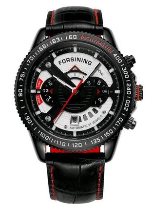 Часы Forsining GMT1186 Black-Red-Whiter