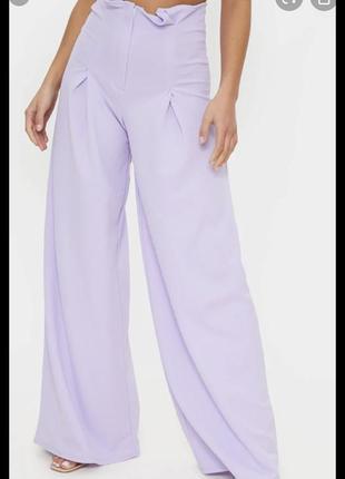 ❤️sale к 8 марта !!❤️  сиреневые классические брюки стрейч