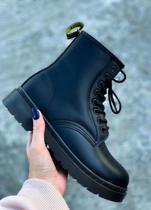Распродажа! зимние ботинки dr. martens мартинс 1460 mono black...