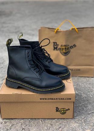 Распродажа! зимние ботинки dr. martens 1460 black fur с мехом ...