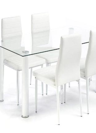 комплект кухонной мебели: СТОЛ И 4 КРЕСЛА БЕЛЫЙ ТОП ПРОДАЖ С AMAZ