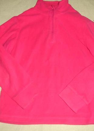 Фирменная малиновая флисовая кофта девочке 7-8 лет
