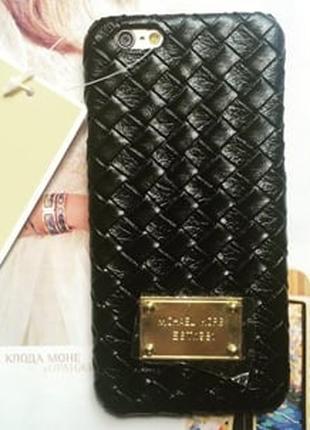 Пластиковый чехол Michael Kors Woven Black Черный для IPhone 6 Pl