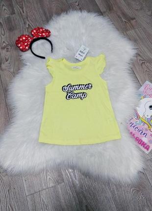 Яркая хб коттоновая футболка для девочки на девочку 6 лет майка