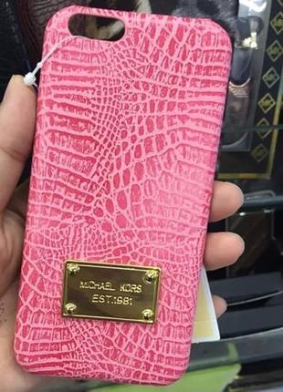 Пластиковый чехол Michael Kors Crocodile Розовый для IPhone 6/6s