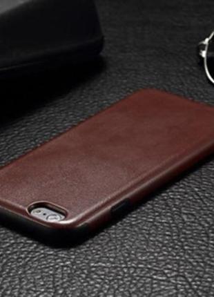 Силиконовая накладка под кожу Brown Коричневый для IPhone 7