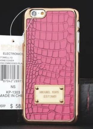 Пластиковый чехол Michael Kors Crocodile Pink Розовый для IPhone