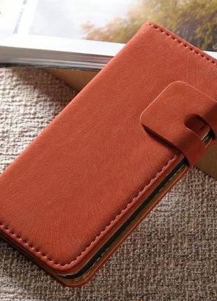 Кожанная книжка - чехол Красная на iPhone 6&6s