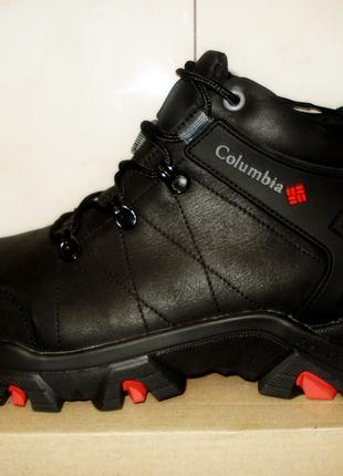 Ботинки мужские зимние кожаные columbia