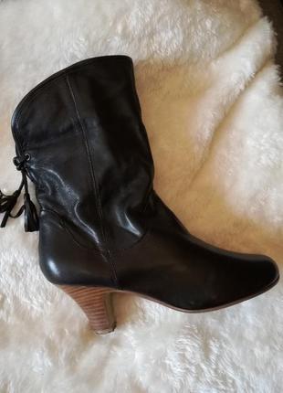Ботинки полусапожки натуральная кожа 38 (25 см)