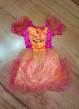 Карнавальный костюм, платье тыквочка на хэллоуин
