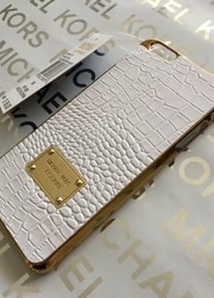Пластиковый чехол Michael Kors Crocodile White Белый для IPhone 6
