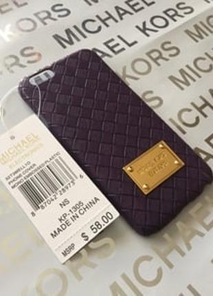 Пластиковый чехол Michael Kors Woven Black Черный для IPhone 6/6s
