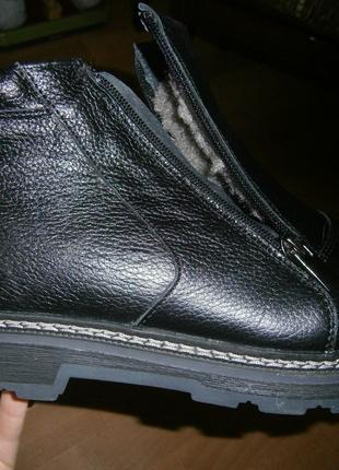 Мужские зимние кожаные ботинки ортопедические