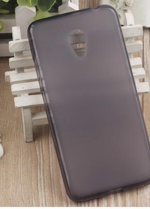Силиконовый TPU матовый бампер чехол накладка Meizu M3S