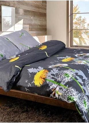 Постільна білизна/постельное бельё: одуванчики серые