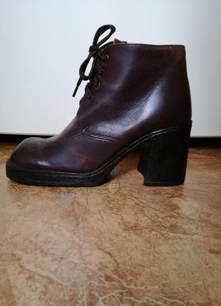 Грубые ботинки натуральная кожа р.40(26см) spago