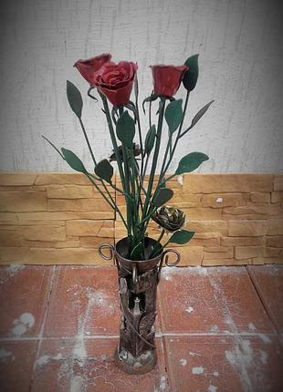 роза из метала