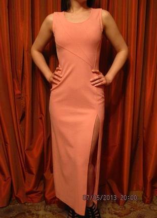 Длинное вечернее платье без рукавов, размер s