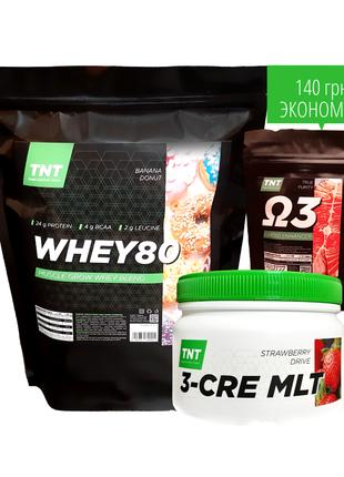 МассКомплект: 2 кг протеина + креатин+Омега в Подарок!