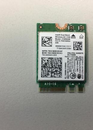 Wi-fi модуль Intel 3160ngw ноутбука нетбука wifi