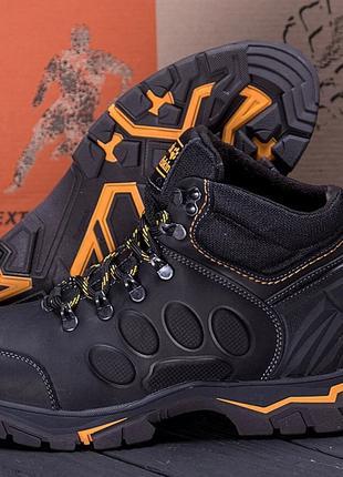 Мужские зимние кожаные ботинки Jack Wolfskin New Black