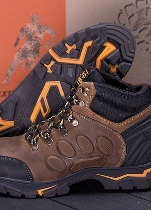 Мужские зимние кожаные ботинки Jack Wolfskin New Olive