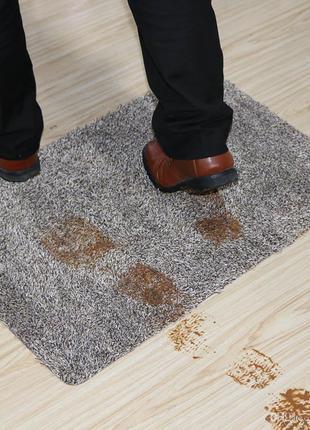 Супервпитывающий придверный коврик Clean Коврик грязезащитный