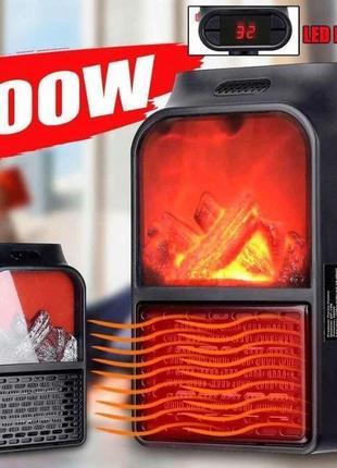 Обогреватель камин дуйка тепловентилятор с пультом FLAME HEATE...