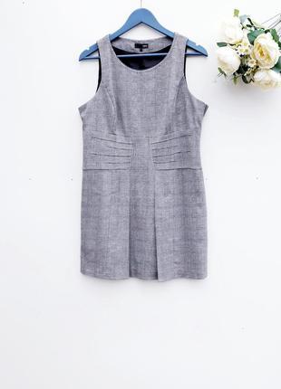 Платье сарафан в клетку стильный сарафан