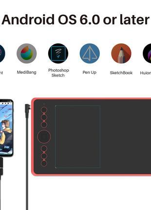 Графический планшет Huion Inspiroy Ink H320M New 2 в 1 + чехол