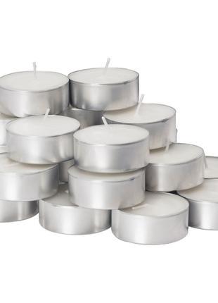 Неароматизована свічка в метал підсвічнику 24 шт GLIMMA