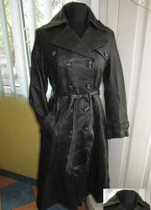 Женская кожаная куртка - плащ с поясом gaby castillo. италия. ...