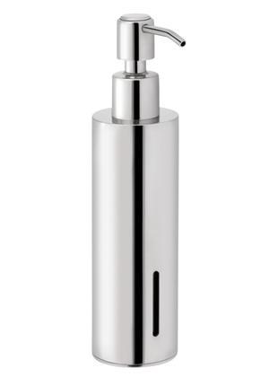 Дозатор для жидкого мыла из латуни хром 250 мл qt круглый дозатор