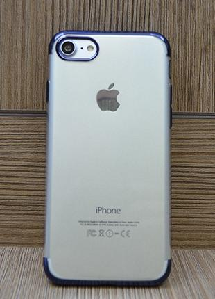 Силиконовый чехол Floveme Luxury Синий для iPhone 8