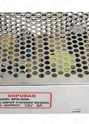 PAS-60 60W  Импульсный блок питания 12 вольт 5А