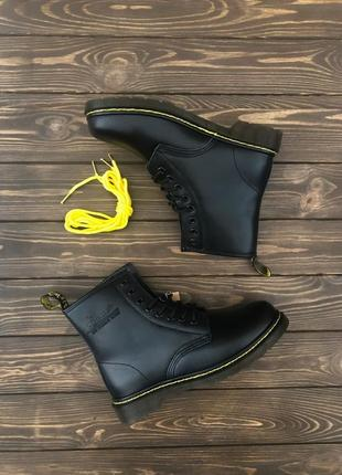 Шикарные женские ботинки ❄️dr. martens 1460 black хутро