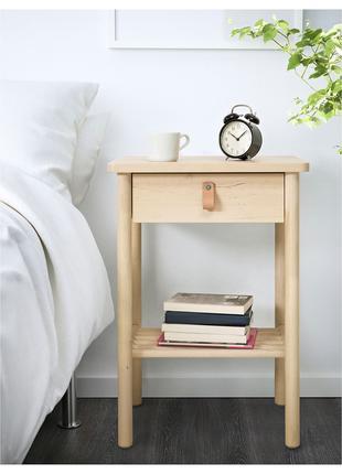 Приліжковий столик, береза, 48x38 см BJÖRKSNÄS