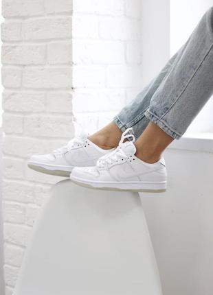 Nike sb dunk low white 🆕шикарные кроссовки найк🆕купить наложен...
