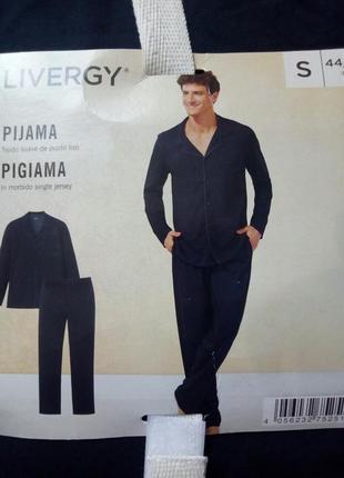 Пижама мужская, домашний костюм livergy
