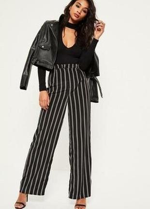 Новые черные классические женские легкие брюки, кюлоты в белую...