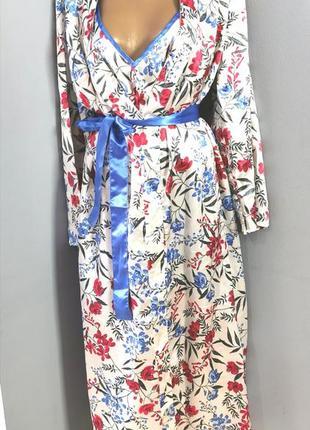 Пеньюар комплект халат с ночнушкой.
